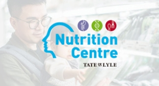 Nutrition Centre logo over a father and child in supermarket