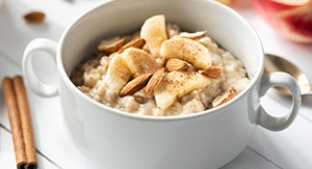 Oatmeal fortified with fibre